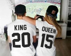King y queen 2 camisetas lote
