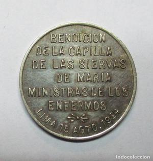LIMA (PERÚ) . PRECIOSA MEDALLA DE PLATA. CAPILLA DE LAS