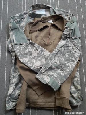Lote (1) US Army Guerrera ACU Large + abrigo térmico
