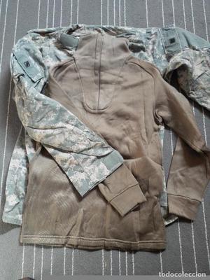 Lote (4) US Army guerrera ACU Medium Long y camiseta