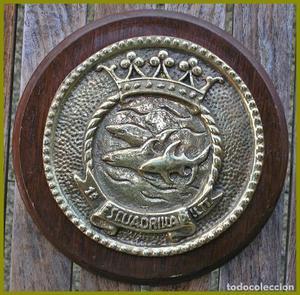 Metopa 1ª Escuadrilla LL/TT...De bronce o latón...Medidas