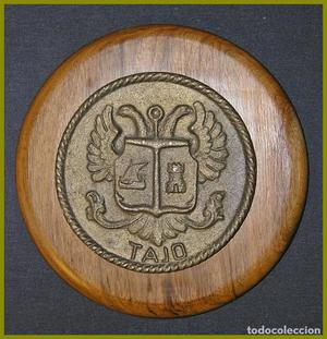 Metopa bronce o latón.... Dragaminas M 30 Tajo....Diámetro