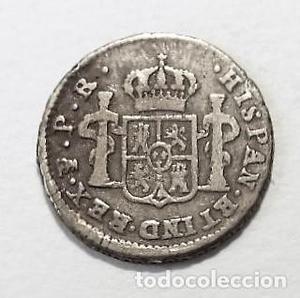 Moneda de medio -1/2- real, Carlos III, , ceca de
