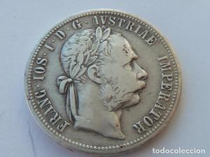 Moneda de plata 1 FLORIN Imperio Austro Hungaro de