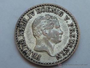 Moneda de plata de 1 Silber Groschen de  Prusia de