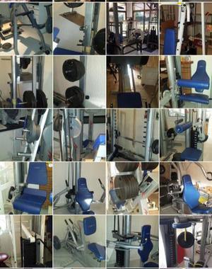Máquinas de musculación, gimnasio
