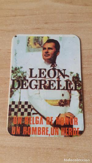 PEGATINA LEON DEGRELLE- JEFE DE LAS WAFFEN SS BELGAS - UN