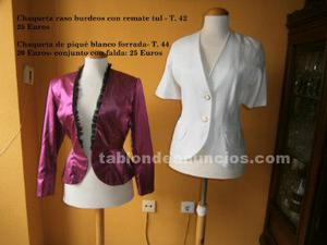 Remato ropa exclusiva (elegante y sport) para señora.