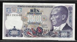 TURQUIA - Billete de  Liras Turcas, BC de