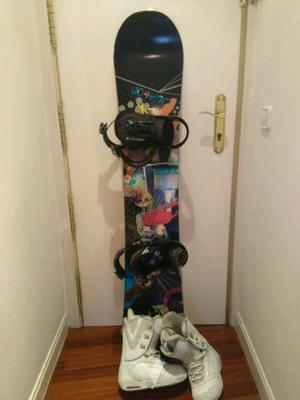 Tabla + fijaciones + botas Snowboard. Burton