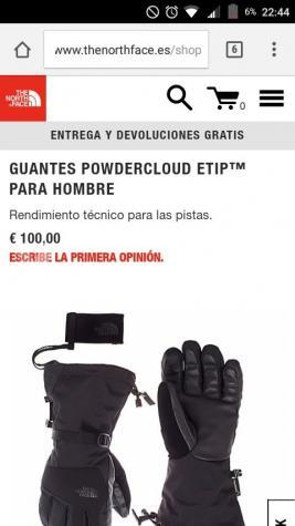 The north face powdercloud etip goretex guantes