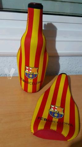 funda refrigerante para botellas FC BARCELONA