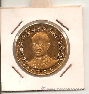 medalla religiosa (con baño de oro) pavlvs vi. pontif