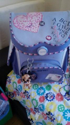 mochila con su bolsa de deporte