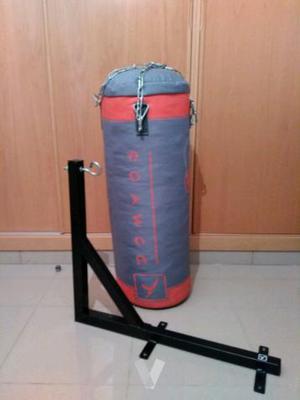 saco de boxeo + soporte de pared