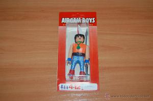 ANTIGUO MUÑECO BLISTER AIRGAM BOYS AIRGAMBOYS INDIO SIOUX