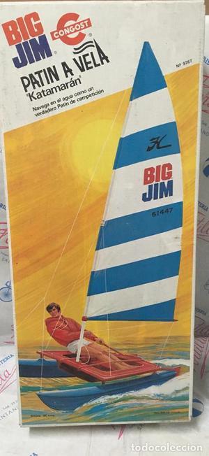 Big Jim Patin a vela. Nuevo, sin uso, de jugueteria.