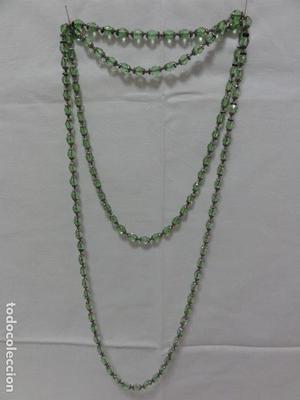 Collar vintage cristal de roca verde