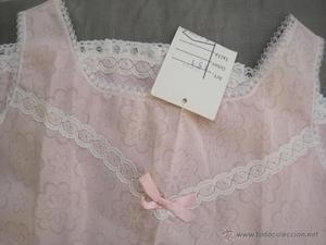 ENAGUA --vestido VINTAGE NIÑA, ROSA--AÑOS 70--ETIQUETADA