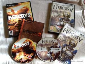 Juegos PC Héroes V y Farcry 2