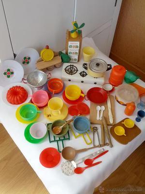 Antigua caja menaje juguete cacharritos cocina posot class for Cocina y menaje