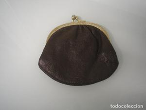 Monedero - Cartera de mujer en tela de color marrón -