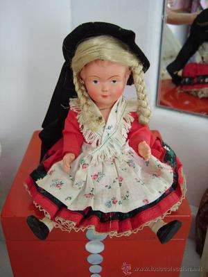Muñeca de celuloide, antigua