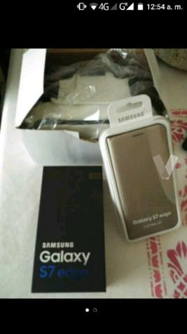 samsung galaxy S7 edge nuevo oro