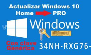 Actualizacion Windows 10 pro o home