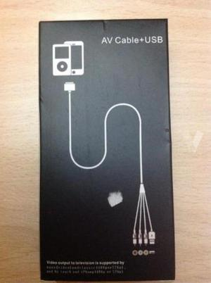 Av cable USB (Apple-iphone 3G)