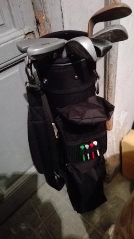 Bolsa con 6 palos de golf niños