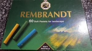 Caja de pasteles rembrandt 1 solo uso impecable