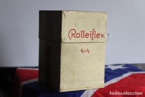 Caja original Rolleiflex Baby (4x4) con estuche y tapa