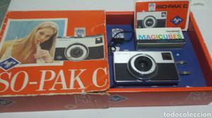 Cámara de fotos Agfa ISO-PAK C en caja original y libro
