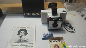 Cámara de fotos antigua Polaroid modelo 20 completa en caja