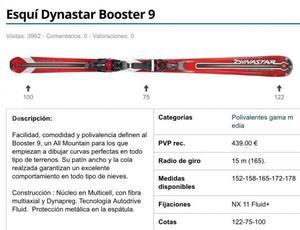 Esqui Dynastar Booster 9 + Bastones