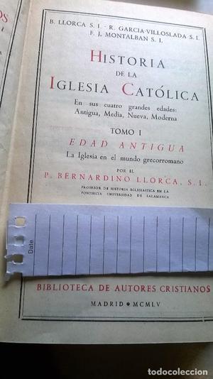 Historia de la Iglesia Católica T. I. Edad Antigua