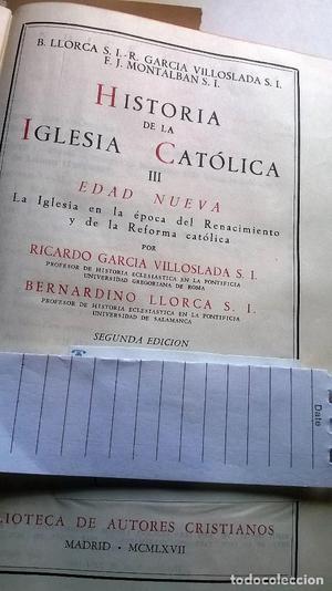 Historia de la Iglesia Católica T. IIII. Edad Nueva