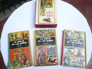 LA BIBLIA DE LOS NIÑOS TRES TOMOS EN SU ESTUCHE. ILUSTRADA