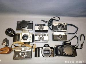 LOTE DE CAMARAS / MATERIAL FOTOGRAFICO (IDEAL PIEZAS)