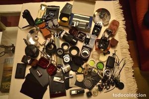 LOTE DE MATERIAL FOTOGRAFICO - FILTROS, PARASOLES,