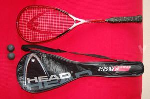 Raqueta de Squash marca HEAD + Funda