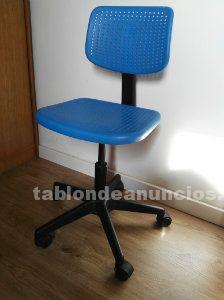 Silla con ruedas para escritorio