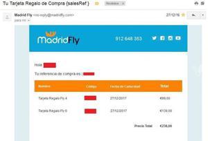 Tarjeta Regalo Túnel de viento MadridFly