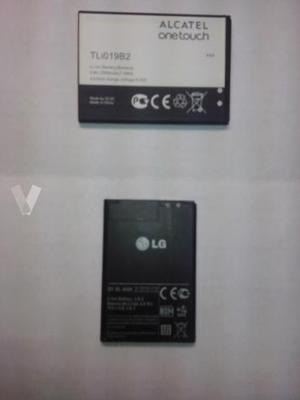 baterias LG y ALCATEL