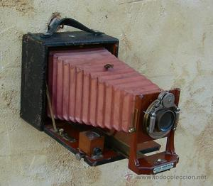 camara de placas madera caoba antigua cicle poco2,, fuelle