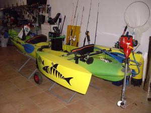 kayak de pesca 2+1