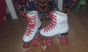 patines de cuatro ruedas.