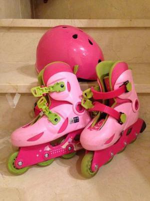 patines infantiles con casco