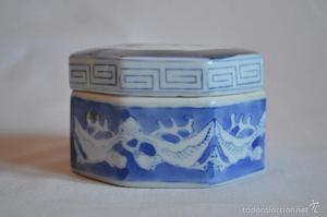 Antigua cajita joyero de porcelana china. romanjuguetesymas.